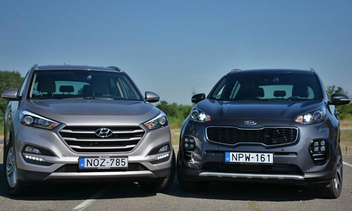 Сравнение Hyundai Tucson и Kia Sportage