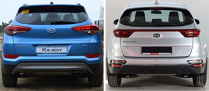 Задние фонари Hyundai Tucson и Kia Sportage