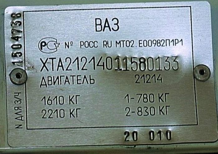 VIN-код ВАЗ