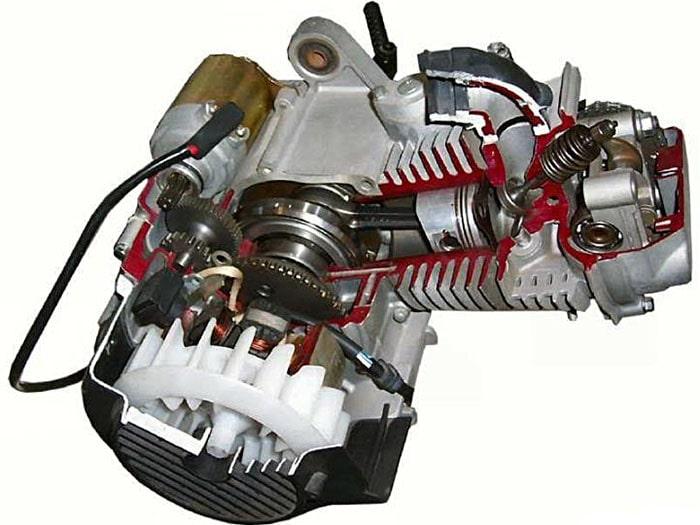Мотор для скутера и мопеда в разрезе