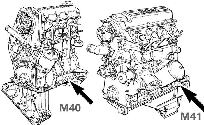 Номер двигателя БМВ М40 и М41