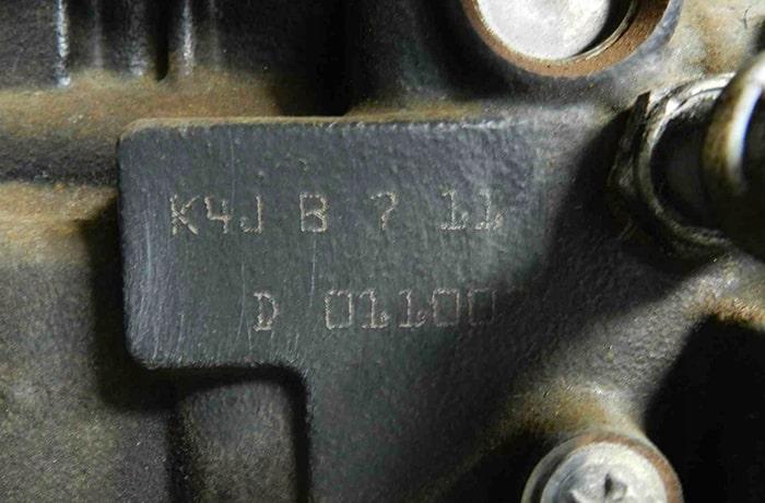 Номер двигателя Рено
