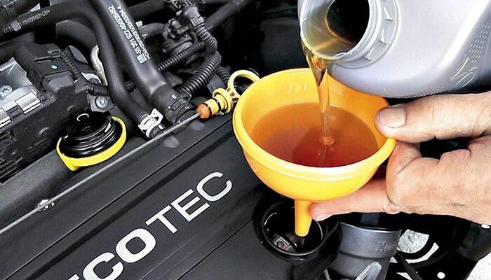 Объем масла в двигателе
