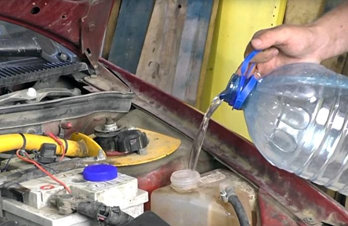 Промывка системы охлаждения после уксусной кислоты