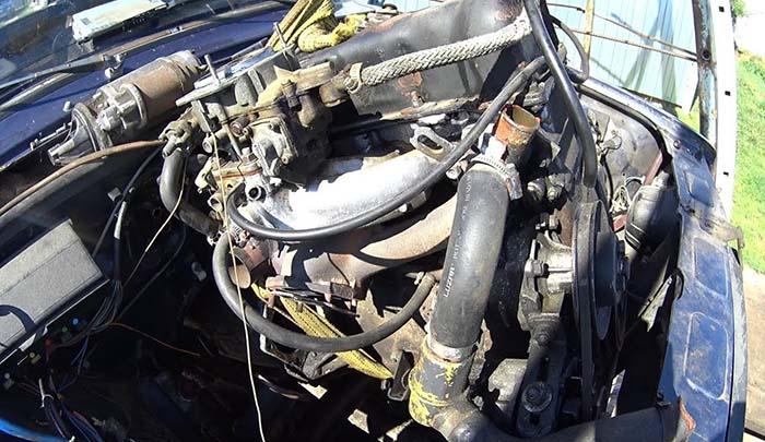 Снятие двигателя ВАЗ 2106