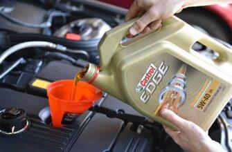 Залив масла в двигатель
