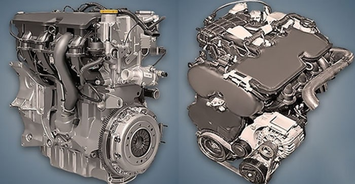 Двигатель ВАЗ 21129 с двух сторон